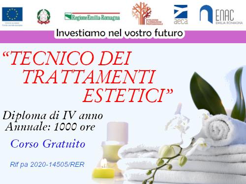 IV ANNO – TECNICO DEI TRATTAMENTI ESTETICI – 2020 - 2021- Rif PA 2020-14505/RER